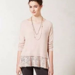 Knitted & Knotted Anthropologie Bloom Lace Blouse